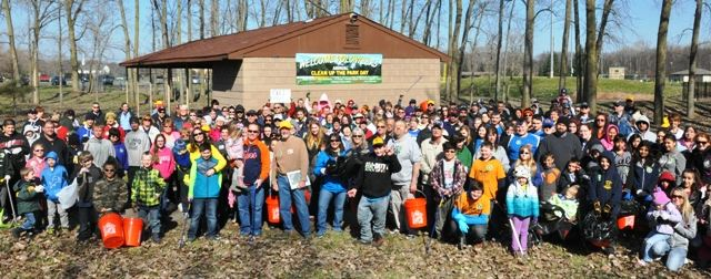 Heritage Park Cleanup Day Crew Group Picture